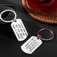 """""""I Love You For Who You Are """"Couple Keychain Stainless Steel Key Ring Gift"""