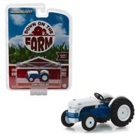 GREENLIGHT 48010B 1949 Ford 8N Tractor - White and Blue Diecast Model 1:64