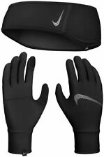 Nike Womens Essential Running Headband And Glove Set - Black - XS/S - M/L