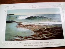 M25.Vintage Embossed Postcard.Calm on the seas.Wildt.