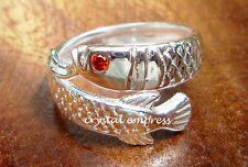 Feng Shui - 2016 Adjustable Arowana Ring (925 Sterling Silver) + SILVER CLEANER