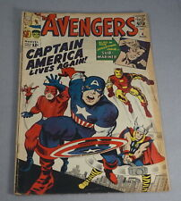 ORIG. MARCH 1964 THE AVENGERS NO. 4 COMIC BOOK - MARVEL COMICS CAPTAIN AMERICA