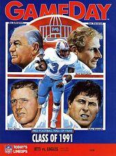 1991 New York Jets Home vs Philadelphia Eagles NFL Football Program