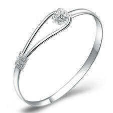 Elegant Delicate Simple Bracelet Engagement Wedding Bangle Cuff Jewelry Gift