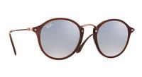 Ray-Ban Damen Herren Sonnenbrille RB2447-N 6256/9U 49mm verspiegelt rund P J7 H