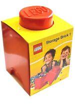 Lego Storage Brick - 1 Knob - Red
