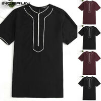 INCERUN Fashion African Dashiki Style Men's Tops Ethnic T Shirt Tee Tops Blouse