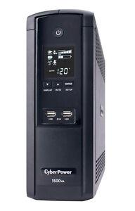 CyberPower- BRG1500AVRL- Intelligent LCD Series 1500 VA 900 Watts 12 Outlets UPS