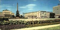 DDR Breitbild-AK LEIPZIG Panorama Postkarte mit Post Hotel Deutschland u. Oper