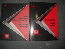 1993 GMC Safari Service Repair Shop Manual SET FACTORY