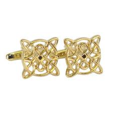 Placcati Oro Celtico design gemelli camicia in confezione regalo classico