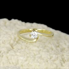 Clearance - excellent diamond engagement promise ring 14k gold estate rings M-F