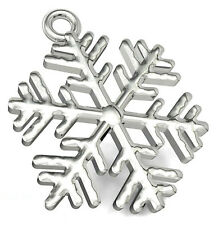 1 STERLING SILVER SNOWFLAKE CHARM / PENDANT FOR CHRISTMAS, 17 X 14 MM