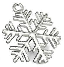 1 argent sterling pendentif / Charme flocon de neige pour Noël, 17 x 14 mm
