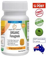 ORGANIC Fenugreek Seeds Capsules - Controls Blood Sugar Levels - AU Stock