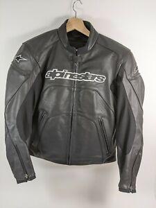 Womens Alpine Stars Stella Gp Plus Black Leather Motorcycle Jacket Sz 10 Us