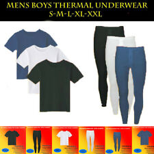 Mens Full Thermal Half Sleeve T-Shirt + Long John Ski Warm Underwear Base Layer