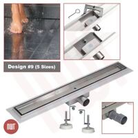 """""""Rectangular"""" Stainless Steel Shower Wetroom Drainage Gully - 600mm to 1500mm"""