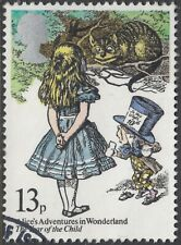 ALICE IN WONDERLAND, THE MAD HATTER & THE CHESHIRE CAT ON 1979 FINE USED  STAMP