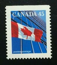 Canada #1361xivs Top PP 13.6x13.1 MNH, Flag Over Building Booklet Stamp 1996