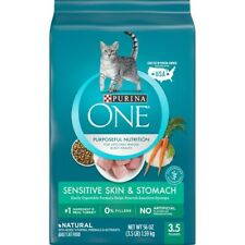Purina One Purposeful Nutrition Sensitive Skin & Stomach Adult Cat Food 3.5 lb