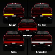"60"" LED 3-Row Tailgate Light Bar Flexible Strip Brake Signal Reverse Trunk Truck"