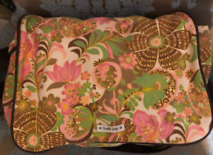 Bumble Bags Pink Brown Green Exotic Floral  Messenger Backpack Diaper Bag