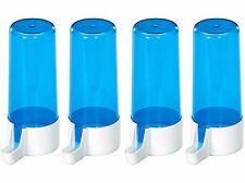 X4 Pet Ting 200cc Blue Drinker Feeder Anti Algae Finch Canary Budgie Etc