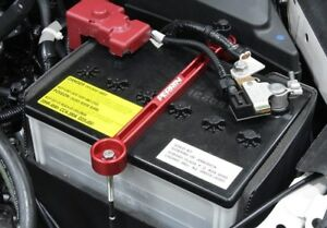 Perrin Performance Red Battery Tie Down for 2002-2020 Subaru WRX and STI