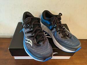 Saucony Men's Guide ISO 2 Running Shoe, Black / Grey, 8 M US