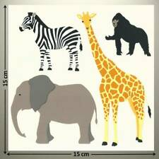 """Mrs Grossman's 6""""x6"""" Sticker - ELEPHANT, ZEBRA, GORILLA, GIRAFFE - UP TO 20% OFF"""