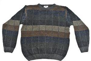 Joseph & Feiss Mens Multi Color Striped Block Pullover Jumper Sweater SZ L