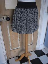 Devore grey x light blue floral balloon skirt mini UK8