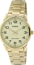 Casio Men's Analog Quartz Gold Tone Stainless Steel Watch MTPV001G-9B