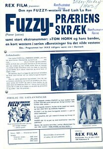 Pioneer Justice Lash La Rue Al St. John 1947 Vtg Danish Movie Press Release