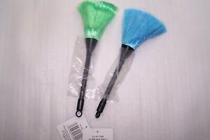 Staubwedel, Statisch, Staubpinsel, 2 Stück, grün - blau, ca. 24 cm lang,