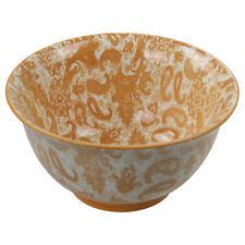 Oriental Orange Porcelain Kitchen Soup Cereals Salads Snacks Food Bowl Tableware