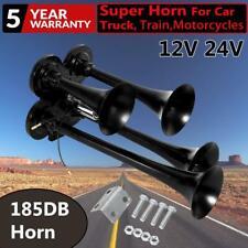 185DB Quad 4 Trumpet  Train Air Horn Car Truck Boat Compact Horn Speaker 12V 24V