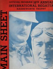 1932 Harmsworth program, near mint, Gar Wood, England, unlimited hydroplanes