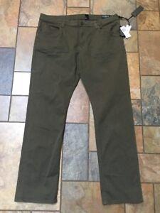 Nwts!!! Mens Buffalo David Bitton Evan Slim Green Jeans Sz 40 Inseam 32 Msrp 119