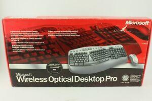 Microsoft Wiresless optical desktop pro Retro Keyboard New old stock