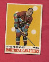 1970-71 OPC  # 264 CANADIENS JOHN FERGUSON   CARD