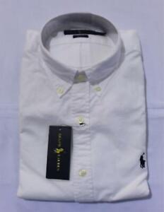 Ralph Lauren Men's Long Sleeve Slim-Fit Core Replen Shirt SC4 White Medium