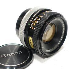 Canon FD 50mm f1.8 SC lens, Silver breech lock camera lens, S 1978