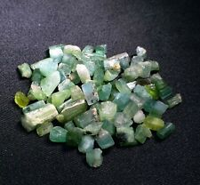 100 Carats Beautiful Green Color Tourmaline Crystal Lot From Skardu