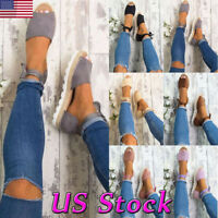 US WOMENS LACE UP SANDALS FLAT CASUAL ESPADRILLES PUMPS SUMMER PARTY SHOES SIZE