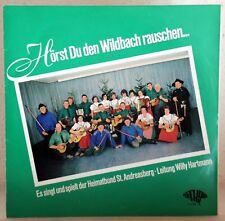 """10"""" Vinyl - HÖRST DU DEN WILDBACH RAUSCHEN - Heimatbund St. Andreasberg"""