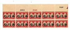 """US Scott # 703 - MNH - Two Plate # Blocks of 10 Stamps - """"TOP"""""""