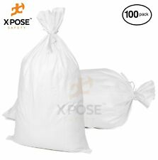 "100 Empty Sand Bags, 18""x 30"" Bags with Ties – Heavy Duty Woven Polypropylene"