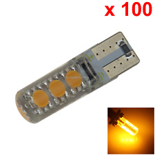 100x Yellow Car T10 W5W Generation Bulb Interior Light PCB 6 2119 SMD LED A139